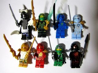 Lot of 8 Pcs Ninja Bricks Mini Figures Building Toys Custom for Ninjago Block