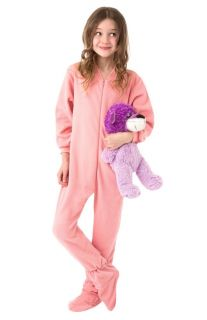 Big Feet PJs Infant Toddler Pink Fleece Footed Pajamas Onesie