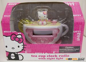 Hello Kitty Tea Cup Alarm Clock
