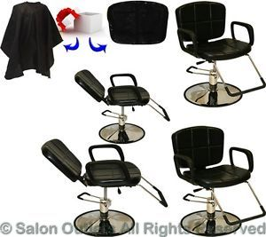 4 x Hydraulic Reclining Barber Chair Shampoo Hair Styling Salon Beauty Equipment