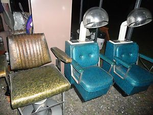 Vintage Barber Shop Chair Hair Salon Equipment Beauty Shop Equipment
