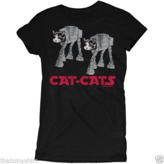 New Authentic Cute David and Goliath Cat Cats Juniors Tee Shirt