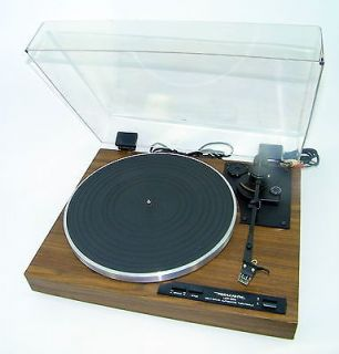 Realistic Lab 290 Semi Auto Belt Driven Wood Turntable w Dust Cover Shure Stylus