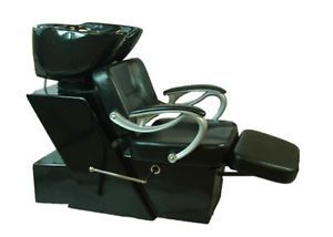 Salon Shampoo Station Chair Reclining Bowl Unit Salon Backwash Hair Black New