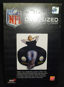 Pittsburgh Steelers NFL Black Inflatable Air Chair with Free Pump Large Size Box