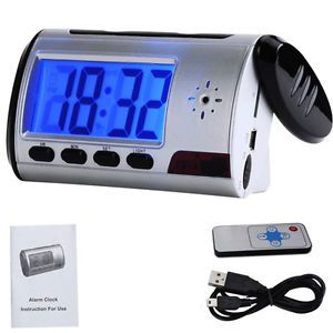 Mini HD Video DVR Hidden Digital Alarm Clock Camera Recorder Motion Detector DV