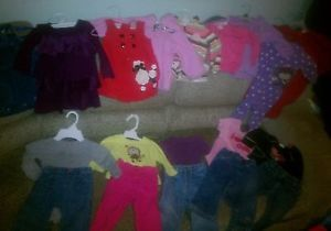 Huge Lot of Baby Girl Clothes Size 12 Months 20 Pieces Look