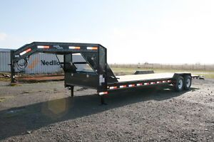 "New 26' x 83"" Gooseneck Carhauler Equipment Trailer w 7K Axles"