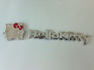 Cute 3D Hello Kitty Decal Emblem Metal with Letter Auto Car Sticker