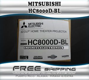 New Mitsubishi HC8000BL DLP 3D Home Theater Projector HC 8000 Black