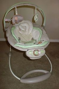 Ingenuity Bright Starts Automatic Bouncer Infant Baby Chair Sleeper Shiloh