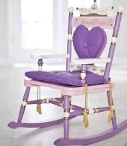 Children Kids Girls Purple Princess Rocking Chair and Table Set New CLEARANCE