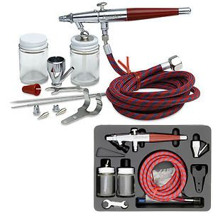 Paasche VL Set Double Dual Action Siphon Feed Airbrush Kit Hobby Cake Tattoo Art