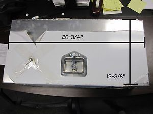 Locking Dual Battery Box Aluminum RV camper Horse Trailer Double