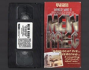 Mein Krieg RARE VHS Tape WWII World War II 2 German Documentary Kino Video
