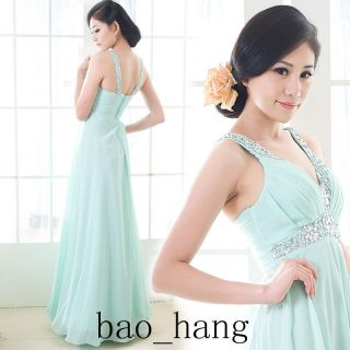 2013 Hot Sale Bridal Bridesmaid Evening Formal Party Dress Gown Chiffon Beads