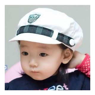 New Cute Kids Baby Infant Toddler Children Boys Girls White Navy Cap Hat 9108