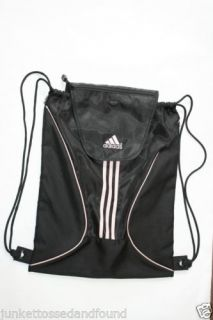 Adidas Black Pink Gym Bag Backpack Sack 361