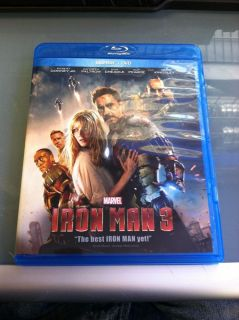 Iron Man 3 Blu Ray DVD 2013 2 Disc Set 786936836943