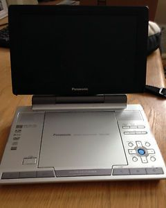 "Panasonic DVD LS90 Portable DVD Player 9"" with Targus Padded Case Nice"