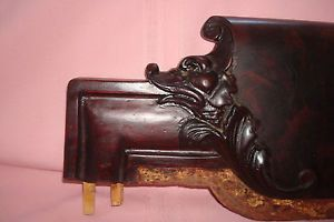 Antique Expertly Carved Animal Face Floral Salvage Wood Chair Frames EX Con