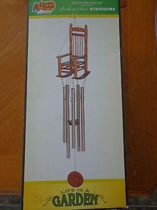 Cracker Barrel Outdoor Decor Rocking Chair Wind Chime Life Is A Garden