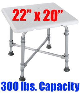 Extra Wide Heavy Duty Bariatric Bath Bench Shower Tub Chair Seat 300 lbs Limit