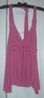 Women Girls Pink Halter Top Baby Doll Style Size M