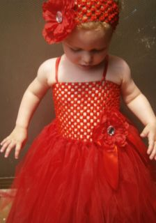 Beautiful Baby Girl Christmas Wedding Birthdaytutu Dress 1 2 Years 55cm Long
