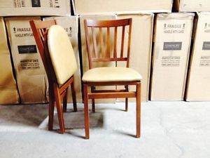 Stakmore 550V Fruitwood Finish Wood Folding Chairs School House Style Chairs