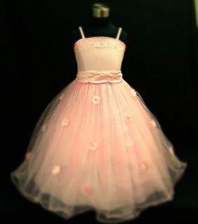 PP408 Light Pinks Wedding Party Flowers Girls Pageant Dress Size 2 3 4 5 6 7 8 9