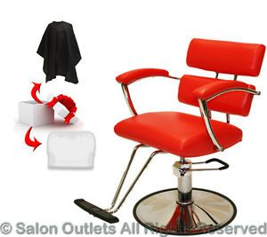 New Red Extra Wide Hydraulic Barber Chair Styling Hair Beauty Salon Equipment