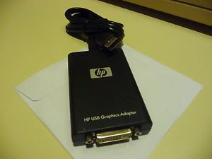 HP NL571AA USB to DVI Graphics Multiview Adapter Connect DVI or VGA Through USB