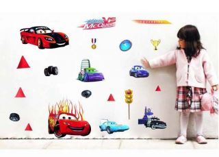 Cartoon Cars Kids Nursery Art Decor Decals Removable Wall Stickers Birthday Gift