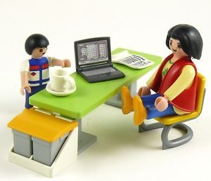 Mummy at Work Computer Office Desk City Life House Furniture Figures Playmobil
