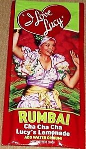 Lucille Ball I Love Lucy Rumba Cha Cha Cha Lemonade Drink Mix Packet New