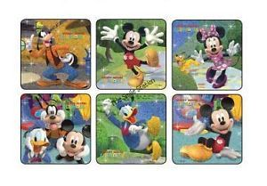 12 Mickey Mouse Clubhouse Glitzy Stickers Kid Party Goody Loot Bag Favor Supply
