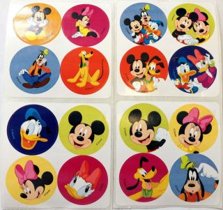 120 Disney Mickey Mouse Minnie Goofy Donald Stickers Party Favors Teacher Supply