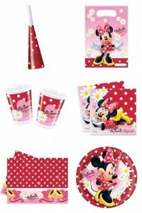 Minnie Mouse Red Daisies Polka Dots Birthday Party Supplies Under One Listing