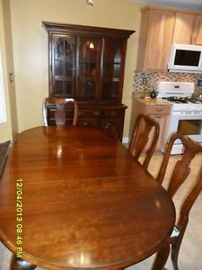 American Drew Cherry Grove Dining Table Chairs and China Cabinet 9 Pcs Set