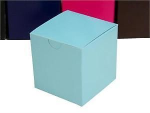 100 Boxes 3x3x3 Turquoise Favor Boxes Wedding Party Gift Supply Decorations