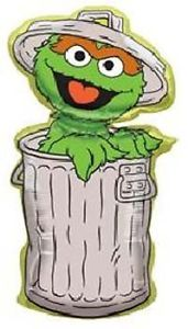 "40"" Oscar The Grouch Balloon Sesame Street Jumbo Balloon Birthday Party Supplies"