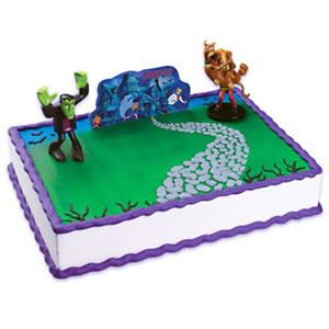Scooby Doo Spooky Mansion Cake Kit Topper Birthday Party Decoration Supplies Set