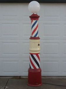 Vintage Barber Pole Antique Barber Pole 1930's Paidar Barber Pole Art Deco Era