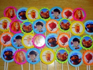 30 The Lorax Inspired Cupcake Toppers Birthday Party Favors Supply