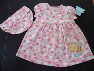 Carter's Baby Girl Set Summer Cotton Dress and Bloomers Size 0 3M New Pink