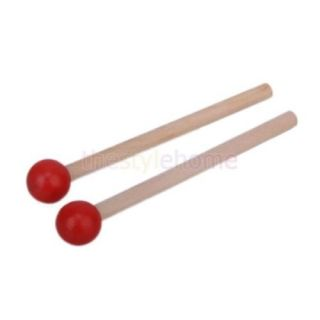 Random Color Wooden Drum Kids Toy with Drum Sticks Baby Musical Development Toys