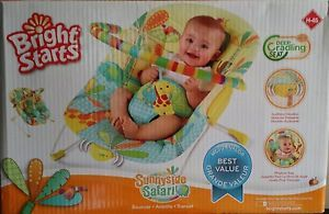 New Bright Starts Sunnyside Safari Jungle Portable Baby Bouncer Chair Seat