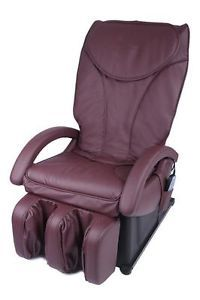 New Full Body Shiatsu Burgundy Massage Chair Recliner Bed EC 69