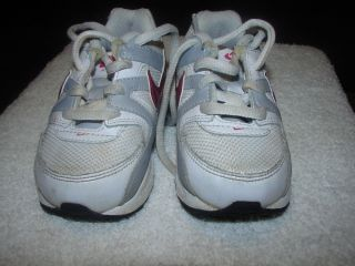 Nike Air Max White and Red Baby Boy Girl Infant Toddler Shoes Size 7c